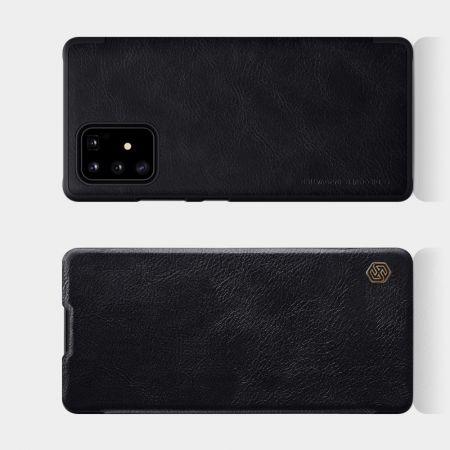 Тонкий Флип NILLKIN Qin Чехол Книжка для Samsung Galaxy S10 Lite Черный