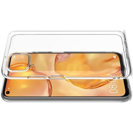 Тонкий TPU Бампер Силиконовый Чехол для Huawei P40 Lite Прозрачный