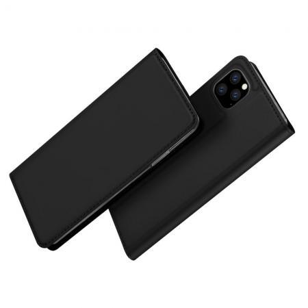 Тонкий Флип Чехол Книжка с Скрытым Магнитом и Отделением для Карты для iPhone 11 Pro Черный цвет