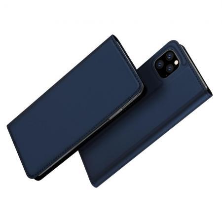 Тонкий Флип Чехол Книжка с Скрытым Магнитом и Отделением для Карты для iPhone 11 Pro Синий цвет