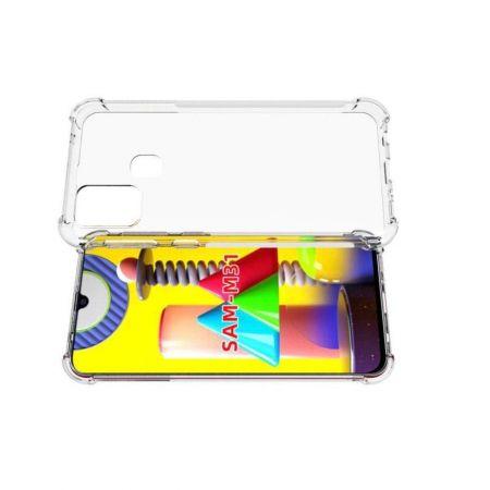 Тонкий TPU Бампер Силиконовый Чехол для Samsung Galaxy M31 Прозрачный