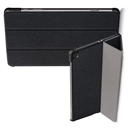 Двухсторонний Чехол Книжка для планшета Samsung Galaxy Tab S6 Lite 10.4 Искусственно Кожаный с Подставкой Черный