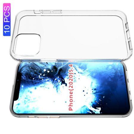 Тонкий TPU Бампер Силиконовый Чехол для iPhone 12 mini Прозрачный