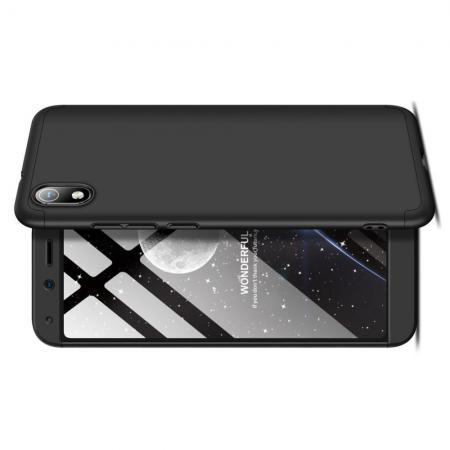 Съемный 360 GKK Матовый Жесткий Пластиковый Чехол для Xiaomi Redmi 7A Черный