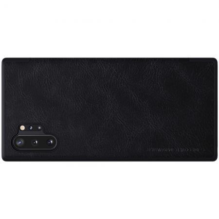 Тонкий Флип NILLKIN Qin Чехол Книжка для Samsung Galaxy Note 10 Plus Черный