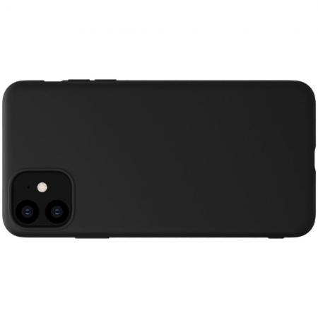 Мягкий матовый силиконовый бампер NILLKIN Flex чехол для iPhone 11 Черный