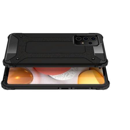 Extreme Усиленный Защитный Силиконовый Матовый Чехол для Samsung Galaxy A52 Черный
