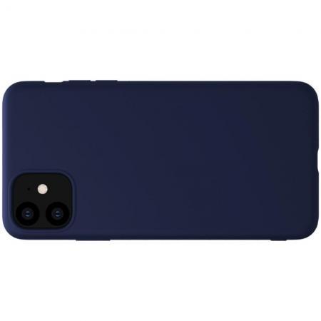 Мягкий матовый силиконовый бампер NILLKIN Flex чехол для iPhone 11 Синий