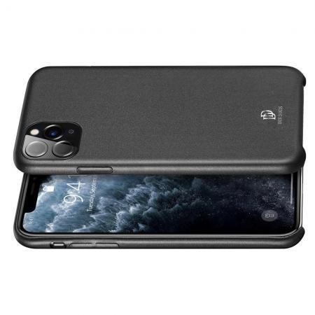 PU Кожаный Чехол для Телефона Dux Ducis Skin Lite для iPhone 11 Pro Противоскользящий Ударопрочный Черный