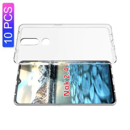 Тонкий TPU Бампер Силиконовый Чехол для Nokia 2.4 Прозрачный