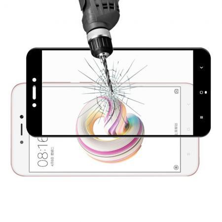 3D Полноэкранное Закаленное Олеофобное DF Full Screen Защитное Стекло Черное для Xiaomi Redmi Note 5A 2/16gb