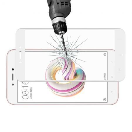 3D Полноэкранное Закаленное Олеофобное DF Full Screen Защитное Стекло Белое для Xiaomi Redmi Note 5A 2/16gb