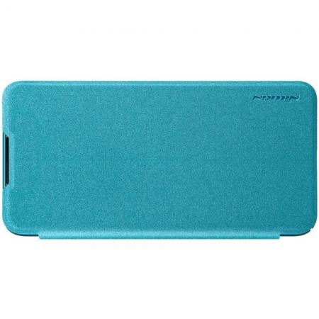 Тонкий Флип NILLKIN Sparkle Горизонтальный Боковой Чехол Книжка для Xiaomi Mi A3 Синий