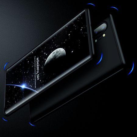 Съемный 360 GKK Матовый Жесткий Пластиковый Чехол для Samsung Galaxy Note 10 Plus Черный