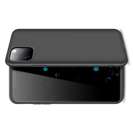 Съемный 360 GKK Матовый Жесткий Пластиковый Чехол для iPhone 11 Pro Max Черный