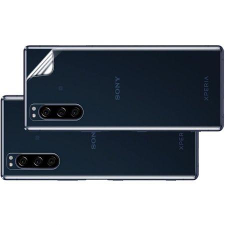 Ударопрочный бронированный IMAK чехол для Sony Xperia 5 с усиленными углами прозрачный + защитная пленка на экран