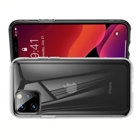 BASEUS Противоударный Защитный Силиконовый Чехол для Телефона TPU для iPhone 11 Pro Max Прозрачный