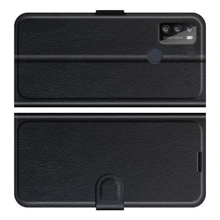 Боковая Чехол Книжка Кошелек с Футляром для Карт и Застежкой Магнитом для Alcatel 1S (2021)/3L (2021) Черный