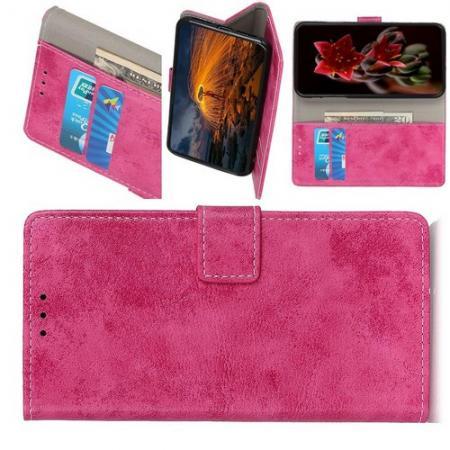 Боковая Чехол Книжка Кошелек с Футляром для Карт и Застежкой Магнитом для HTC Desire 19 Plus Розовый