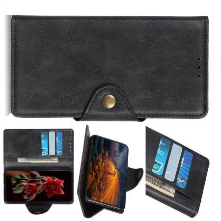 Боковая Чехол Книжка Кошелек с Футляром для Карт и Застежкой Магнитом для Huawei P Smart Z Черный