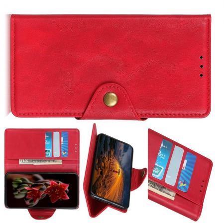 Боковая Чехол Книжка Кошелек с Футляром для Карт и Застежкой Магнитом для Huawei P Smart Z Красный