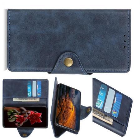 Боковая Чехол Книжка Кошелек с Футляром для Карт и Застежкой Магнитом для Huawei P Smart Z Синий
