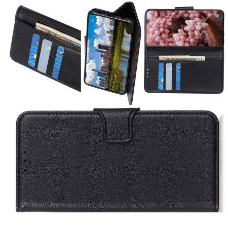 Боковая Чехол Книжка Кошелек с Футляром для Карт и Застежкой Магнитом для Huawei Y5p / Honor 9S Черный