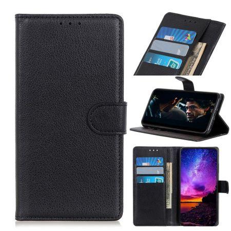 Боковая Чехол Книжка Кошелек с Футляром для Карт и Застежкой Магнитом для Nokia 2.3 Черный