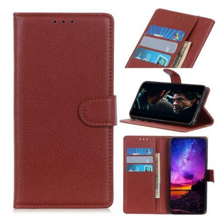 Боковая Чехол Книжка Кошелек с Футляром для Карт и Застежкой Магнитом для Nokia 2.3 Коричневый