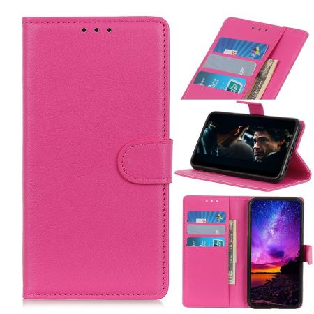 Боковая Чехол Книжка Кошелек с Футляром для Карт и Застежкой Магнитом для Nokia 2.3 Розовый