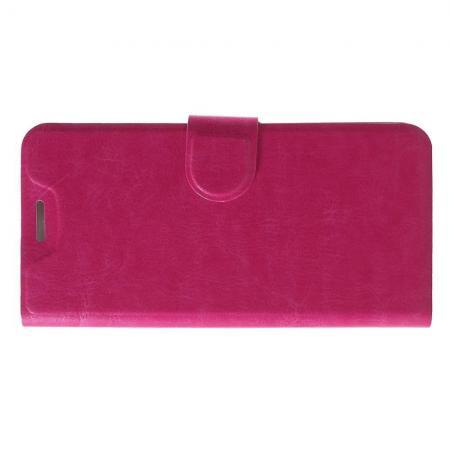 Боковая Чехол Книжка Кошелек с Футляром для Карт и Застежкой Магнитом для Nokia 5.1 Plus Розовый