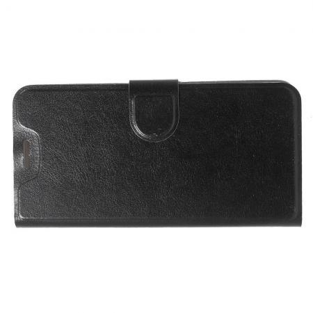 Боковая Чехол Книжка Кошелек с Футляром для Карт и Застежкой Магнитом для Nokia 5.1 Plus Черный