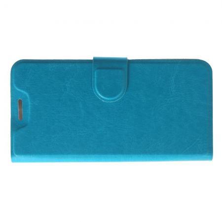 Боковая Чехол Книжка Кошелек с Футляром для Карт и Застежкой Магнитом для Nokia 5.1 Plus Голубой