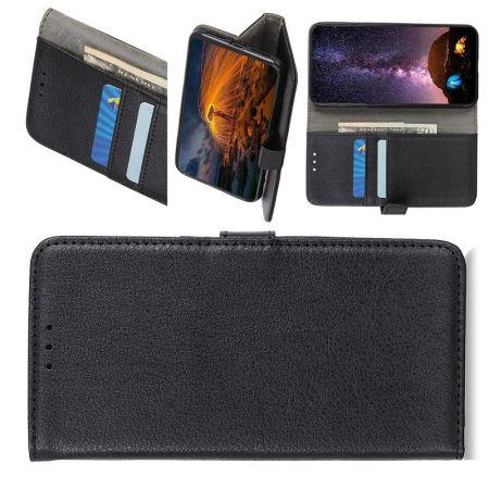Боковая Чехол Книжка Кошелек с Футляром для Карт и Застежкой Магнитом для Nokia 5.3 Черный