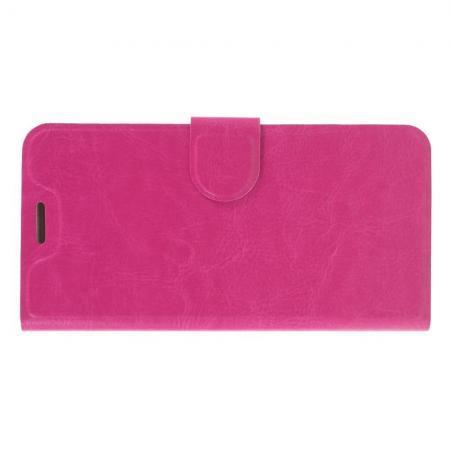 Боковая Чехол Книжка Кошелек с Футляром для Карт и Застежкой Магнитом для Nokia 6.1 Plus Розовый
