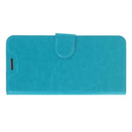 Боковая Чехол Книжка Кошелек с Футляром для Карт и Застежкой Магнитом для Nokia 6.1 Plus Голубой
