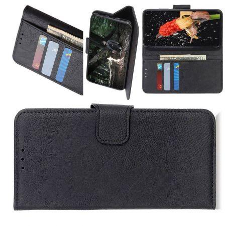 Боковая Чехол Книжка Кошелек с Футляром для Карт и Застежкой Магнитом для Sony Xperia 1 II Черный