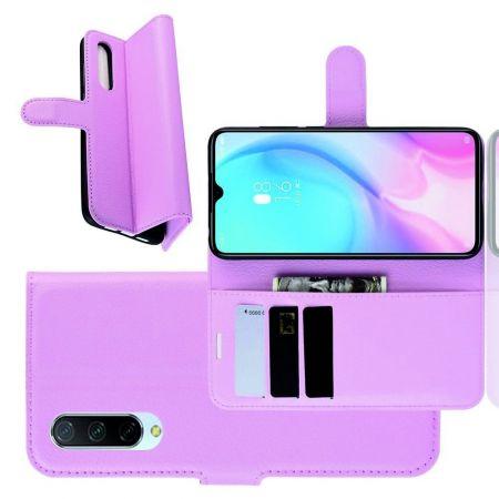 Боковая Чехол Книжка Кошелек с Футляром для Карт и Застежкой Магнитом для Xiaomi Mi 9 Lite Светло Розовый