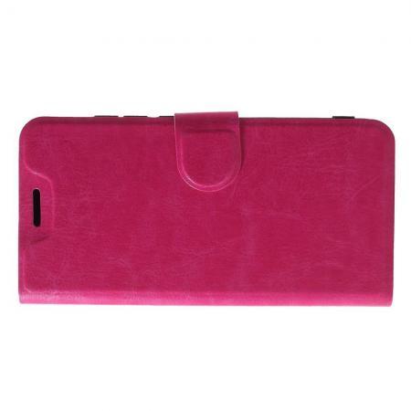 Боковая Чехол Книжка Кошелек с Футляром для Карт и Застежкой Магнитом для Xiaomi Mi A2 Lite / Redmi 6 Pro Розовый