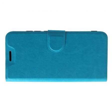 Боковая Чехол Книжка Кошелек с Футляром для Карт и Застежкой Магнитом для Xiaomi Mi A2 Lite / Redmi 6 Pro Голубой