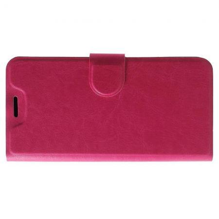Боковая Чехол Книжка Кошелек с Футляром для Карт и Застежкой Магнитом для Xiaomi Redmi 6 Розовый