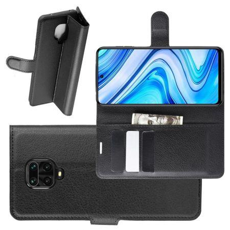 Боковая Чехол Книжка Кошелек с Футляром для Карт и Застежкой Магнитом для Xiaomi Redmi Note 9 Pro / 9S / / 9S Черный