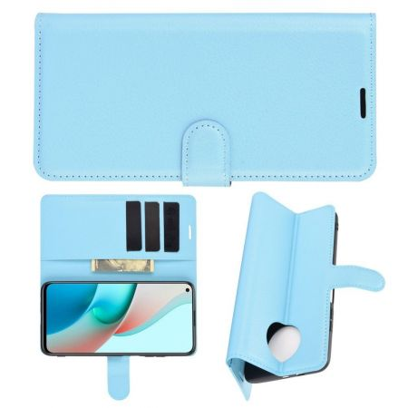 Боковая Чехол Книжка Кошелек с Футляром для Карт и Застежкой Магнитом для Xiaomi Redmi Note 9T Синий