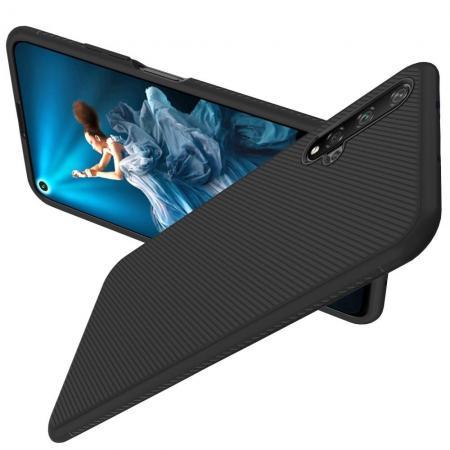 Carbon Fibre Силиконовый матовый бампер чехол для Huawei Honor 20 Черный