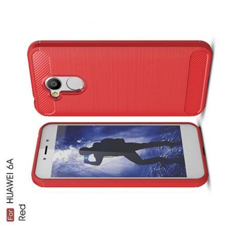 Carbon Fibre Силиконовый матовый бампер чехол для Huawei Honor 6A Коралловый