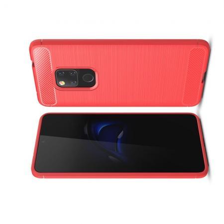 Carbon Fibre Силиконовый матовый бампер чехол для Huawei Mate 20 Коралловый