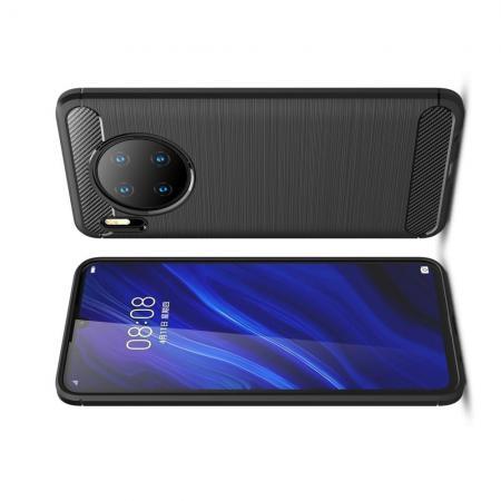 Carbon Fibre Силиконовый матовый бампер чехол для Huawei Mate 30 Черный