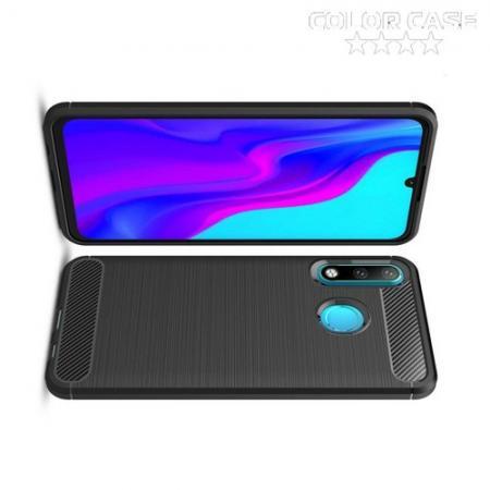 Carbon Fibre Силиконовый матовый бампер чехол для Huawei Honor 20S Черный
