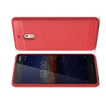 Carbon Fibre Силиконовый матовый бампер чехол для Nokia 2.1 2018 Коралловый