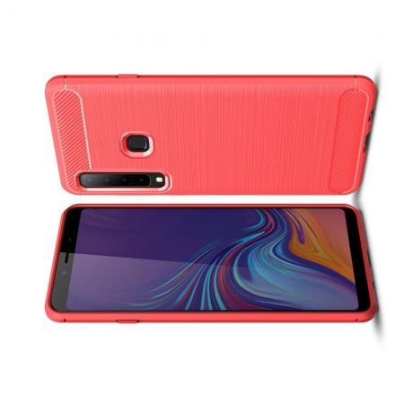 Carbon Fibre Силиконовый матовый бампер чехол для Samsung Galaxy A9 2018 SM-A920F Коралловый